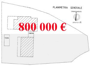 Plan, house for sale in Italy